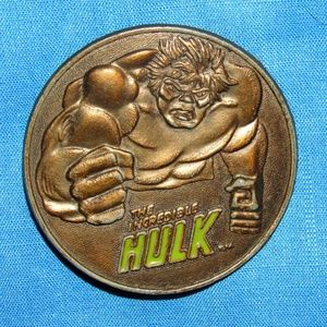 1979 THE INCREDIBLE HULK MARVEL COMICS BELT BUCKLE